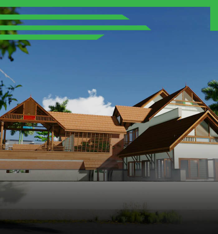 3200sqft Traditional Home Design at Payyanur